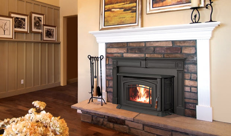 The Boston 1700 Wood Fireplace Insert