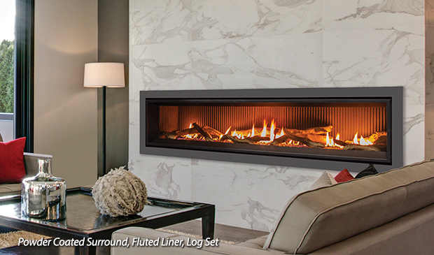 Linear Gas Fireplace >> Enviro Products Gas C72 Linear Gas Fireplace