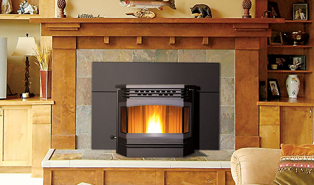 The Meridian Pellet Fireplace Insert