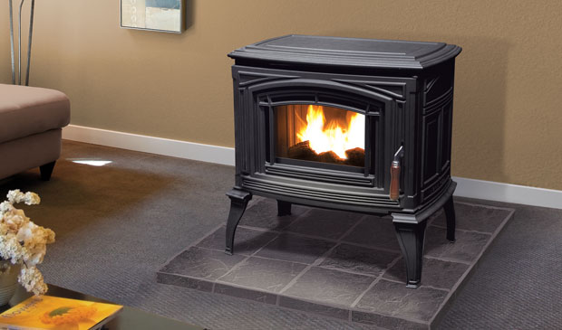 The Meridian Cast Iron Pellet Freestanding Stove