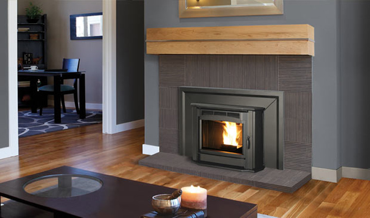 The Milan Pellet Fireplace Insert
